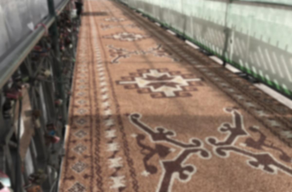 Hamburgs orientalischer Teppich aus Stein